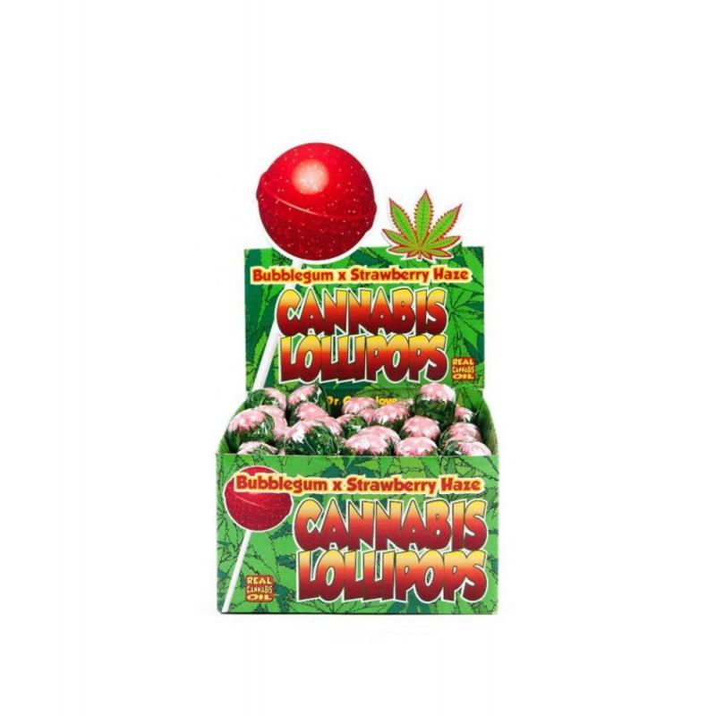 Lizak konopny Bubblegum x Strawberry Haze Dr. Greenlove