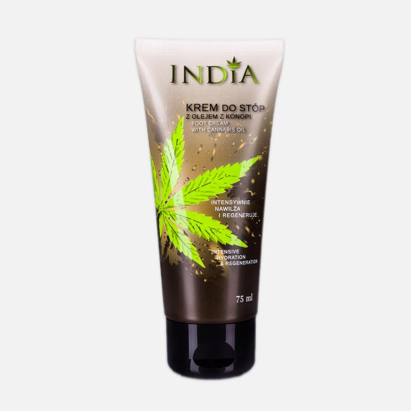 KREM DO STÓP OCHRONNY Z OLEJEM KONOPNYM INDIA COSMETICS India cosmetics