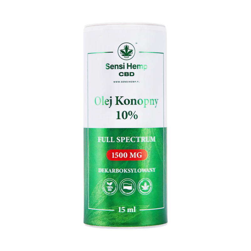 Olejek CBD 10% Dekarboksylowany 15ml Sensi Hemp Sensi Hemp