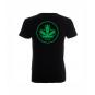 Koszulka Slim Napis Przód Logo Tył Czarna Sensi Hemp
