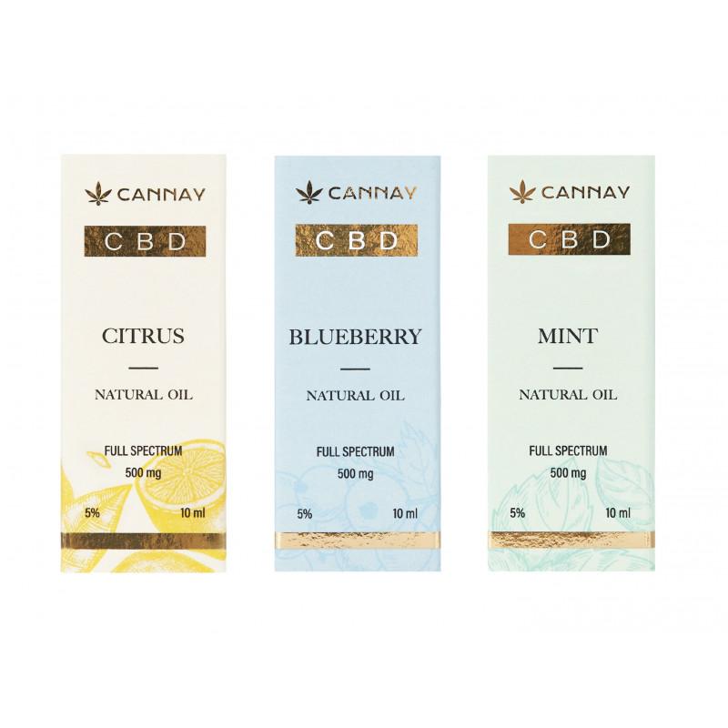 Olejek CBD 5% BLUEBERRY 10ml CANNAY Cannay